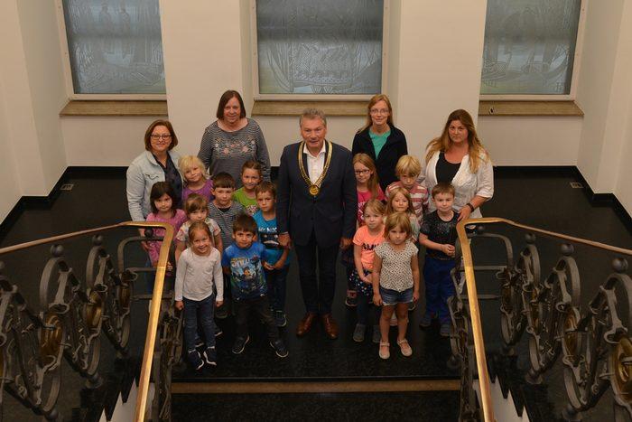 Empfang Kindergartenkinder