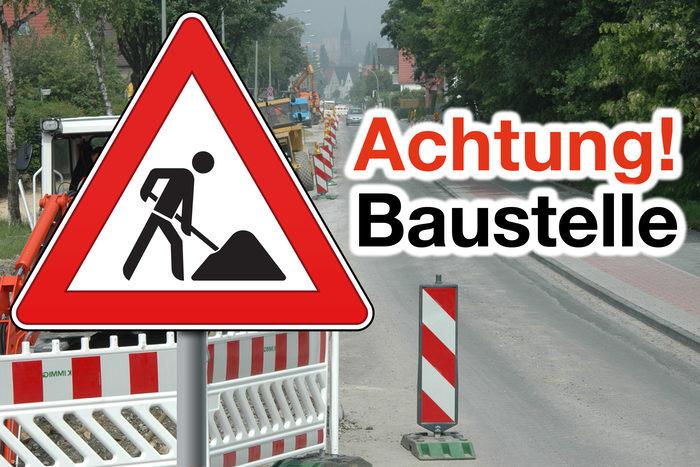 Achtung Sperrung Marienstraße