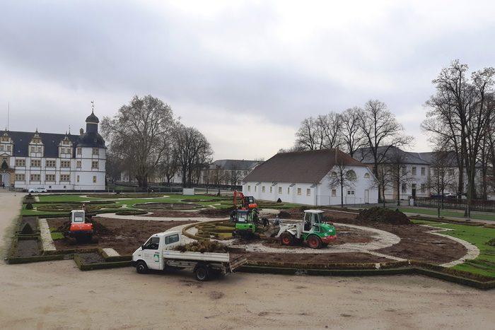 Austausch Buchsbau Schlossgarten