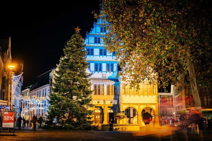 Weihnachtsbeleuchtung Rathaus