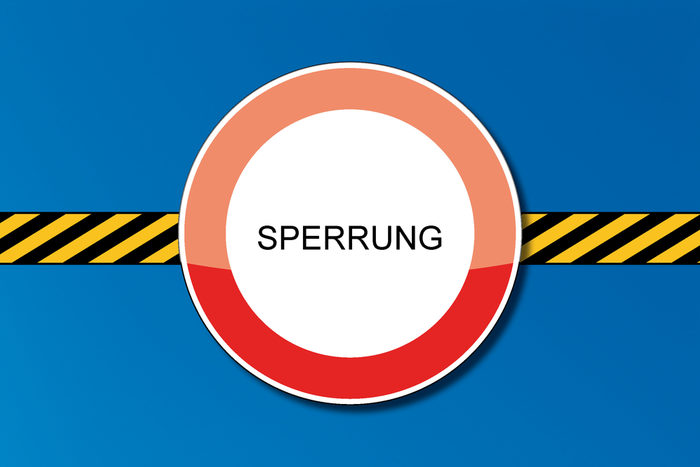 Sperrung Padersteinweg