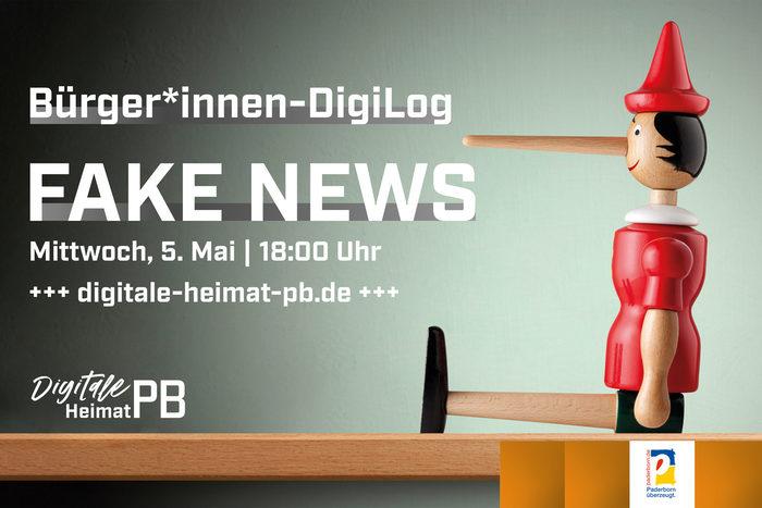 """Am 05. Mai wird via Livestream über das Thema """"Fake News"""" gesprochen."""