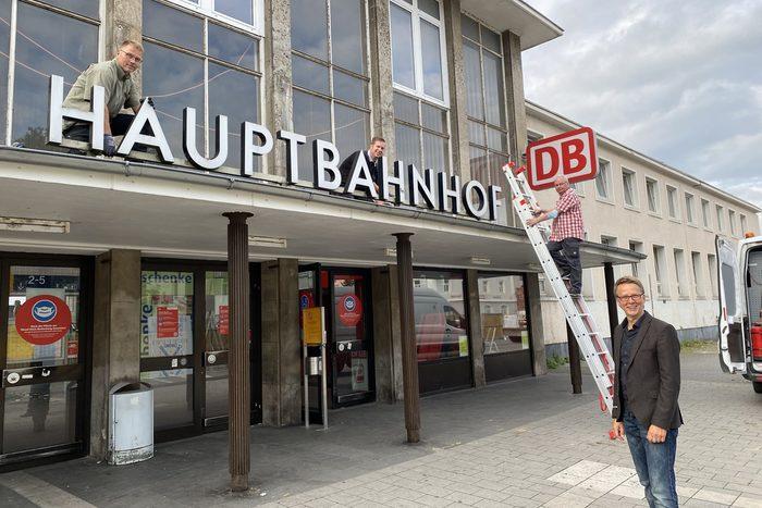 Schriftzug Hauptbahnhof