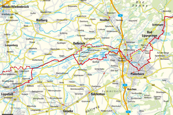 Romer Lippe Route Stadt Paderborn